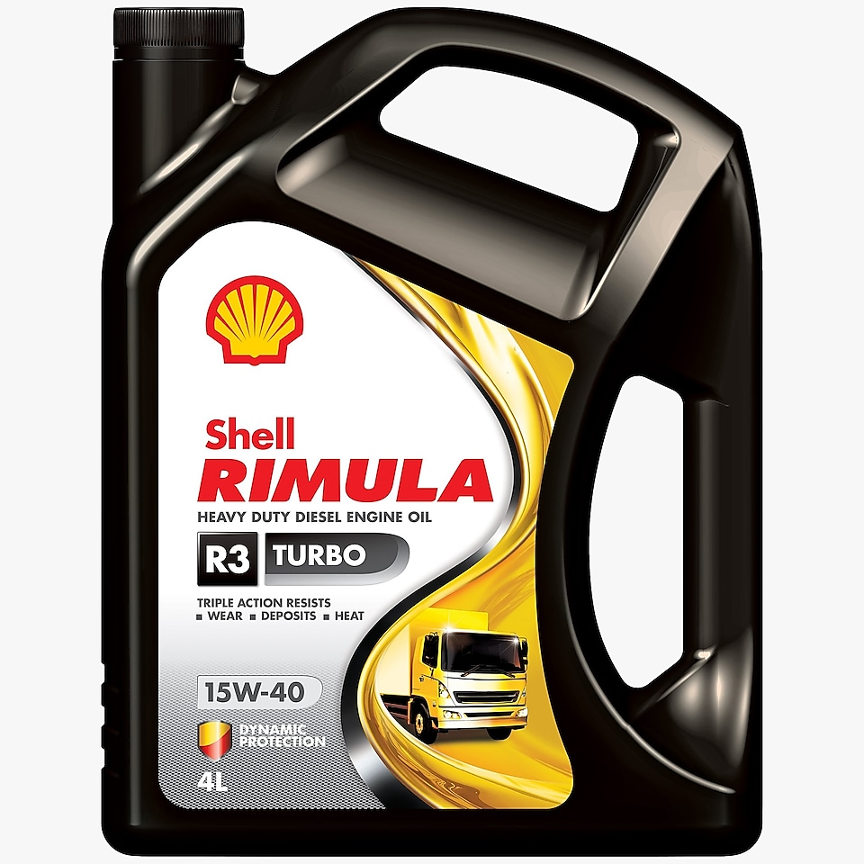 Packshot of Shell Rimula R3 Turbo 4L