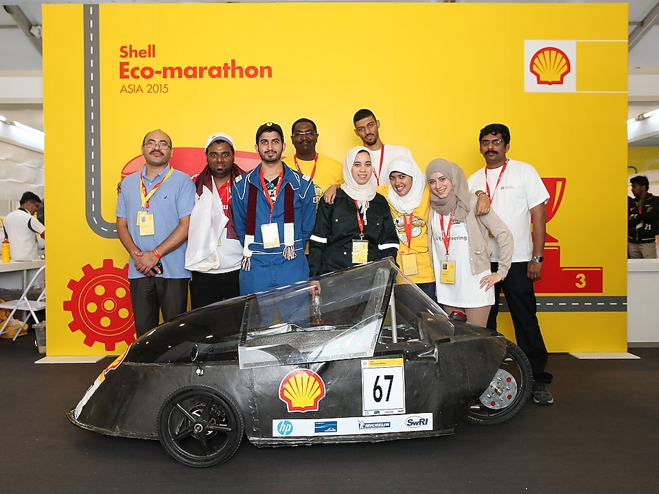 Team Garnas MIE from Qatar University with The MIE-4 Prototype in Manila, Philippines