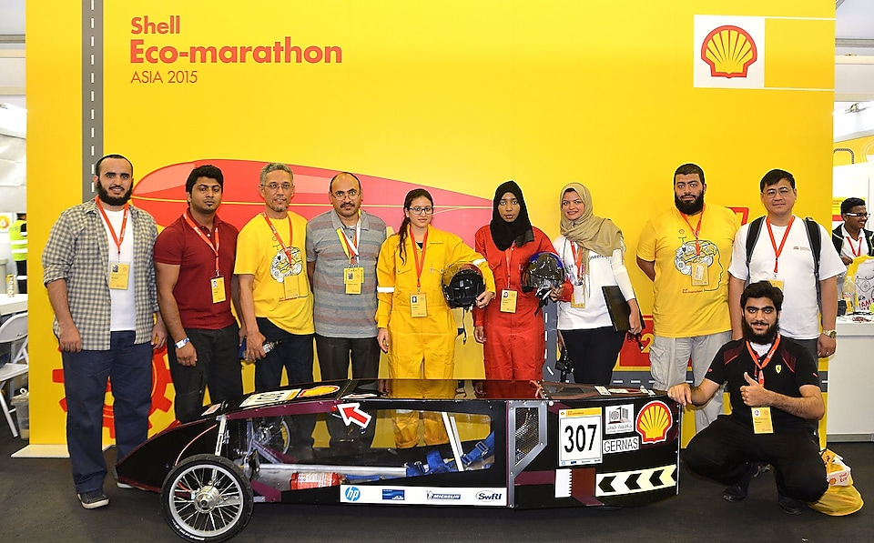 Team GernasS from Qatar University, Qatar with The Gernas 1 Gen 4 Prototype in Manila, Philippines