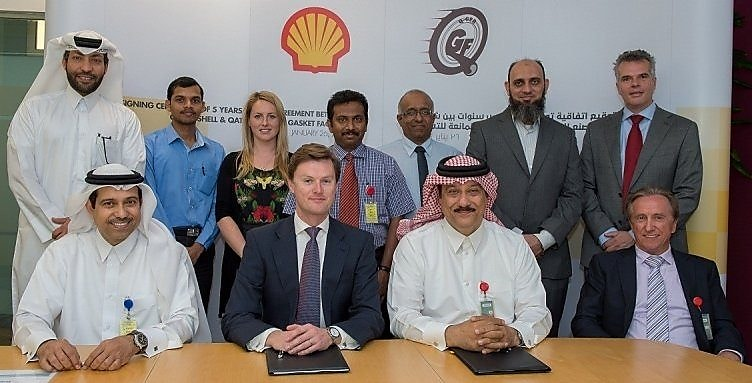 Qatar Shell Signs a Supply Contract with Qatar German Gasket Factory in Doha