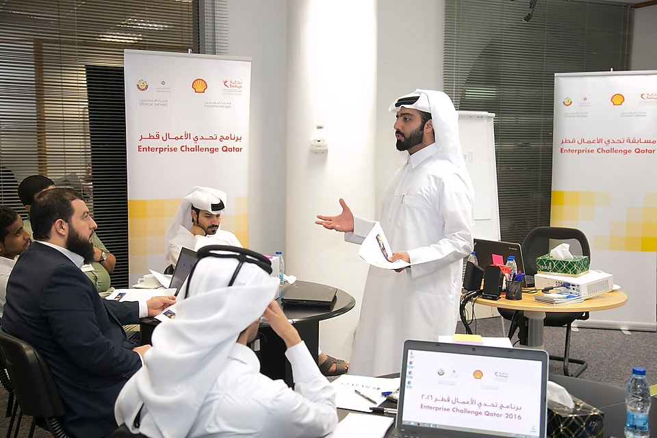 Mohammed Al-Muhanadi , one of the 'Enterprise Challenge Qatar 2016-2017' volunteer mentor