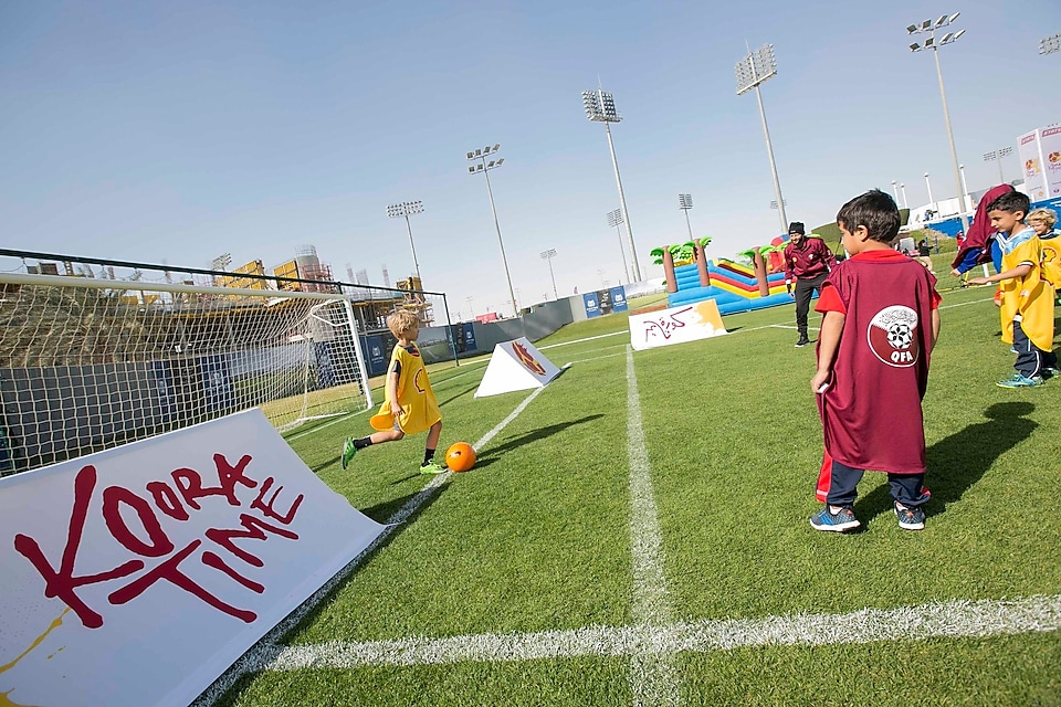 Community runs over 350 kilometres at Koora Time's 'Run to Win' Football Competition on National Sport Day