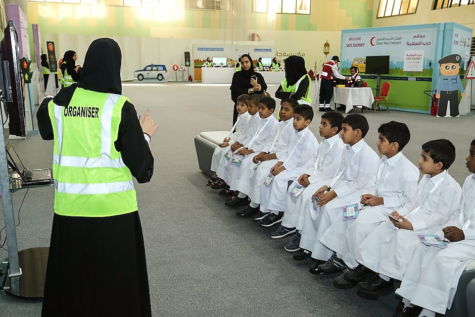 road safety session with kids
